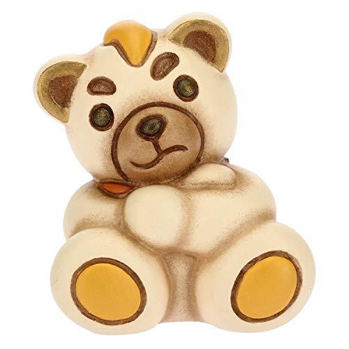 THUN - Teddy Emoticon Arrabbiato - Idea Regalo - Linea Teddy Emoticon - Formato Mini - Ceramica - 3,9x3,8x4,3 h cm