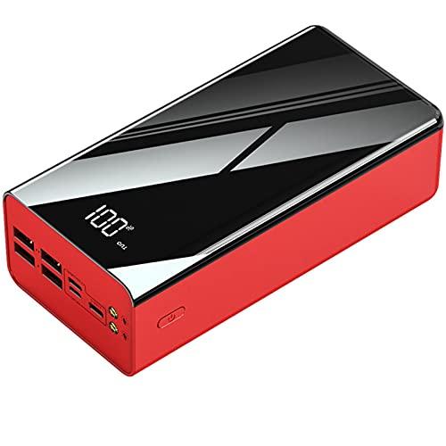 PWQ-01 Cargador Portatil Batería Externa 50000mAh con 4 Puertos Salidas USB 2.1A Carga Rápida Power Bank con Pantalla Digital LCD Cargadores De Móvil para Xiaomi Redmi Samsung Huawei Y Más Smartphone