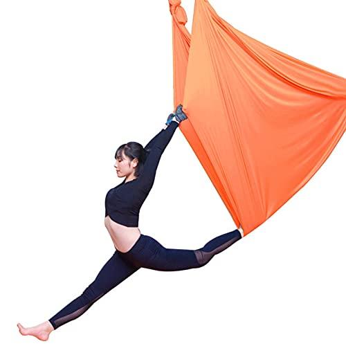 YANGHUI 5M Luft-Yoga-Swing-Set, Yoga-Hängematte, Ultra Starke Antigravity Yoga-Hängematte, Sling, Inversion-Tool Für Fitnessstudio Home Fitness,Orange