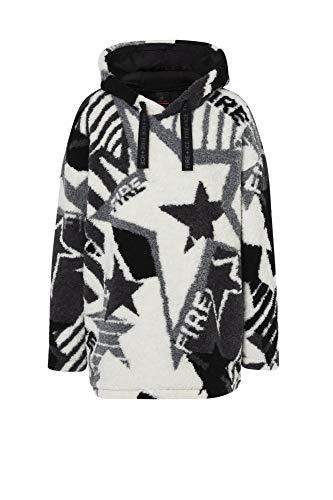 Bogner Fire + Ice Ladies Vivien Pink-Schwarz, Damen Fleece-Pullover, Größe XL - Farbe Wolf