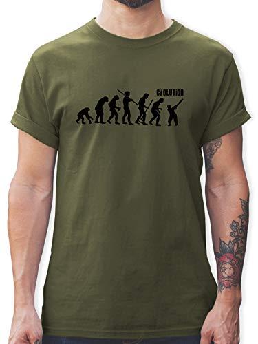 Evolution - Cricket Evolution - XL - Army Grün - t Shirt männer 3XL - L190 - Tshirt Herren und Männer T-Shirts