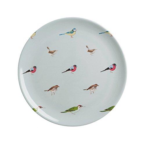 Sophie Willard Allport Jardin Oiseaux Assiette en mélamine