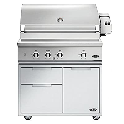 DCS Evolution Freestanding Gas Grill with Rotisserie (BE1-36RC-L-CAD1-36E), 36-Inch, Propane