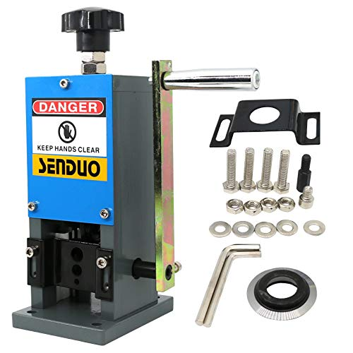 "Manual Wire Stripper Machine 0.06""-1"" Wire Stripping Machine 60ft/Min Cable Strippers For Recycling Scrap Copper Wire"