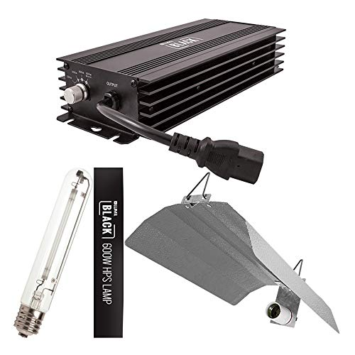 Bombilla de 600 W Lumii negra regulable digital Balast Grow Kit de iluminación HPS Dual Spectrum