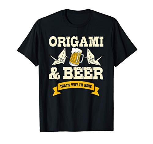 Origami & Bier Origami Liebhaber Geschenk Origami T-Shirt