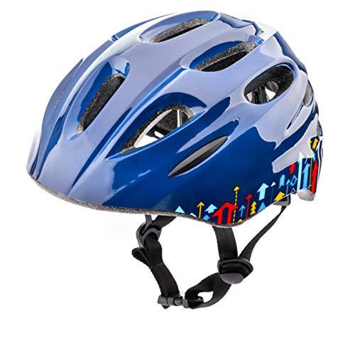 meteor Casco Bici ideale per bambini Caschi perfetto per Downhill Enduro Ciclismo MTB Scooter Helmet Ideale per Tutte Le Forme di attività in Bicicletta Helmo KS01 (XS 44-48 cm, arrows)