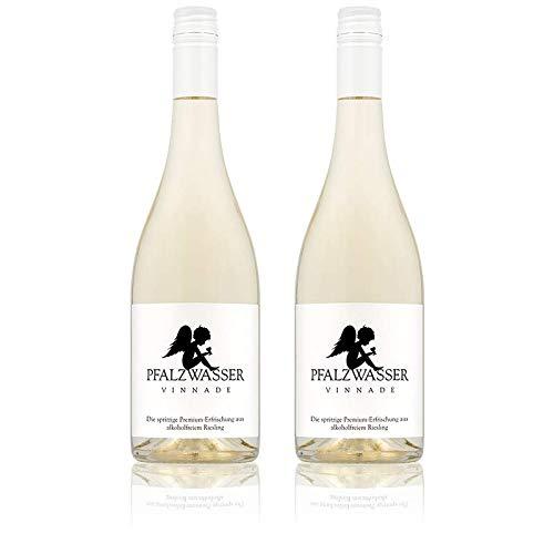 Pfalzwasser Vinnade - stilvolle prickelnde Premium-Erfrischung aus alkoholfreiem Wein (2x 0,75l Flasche)
