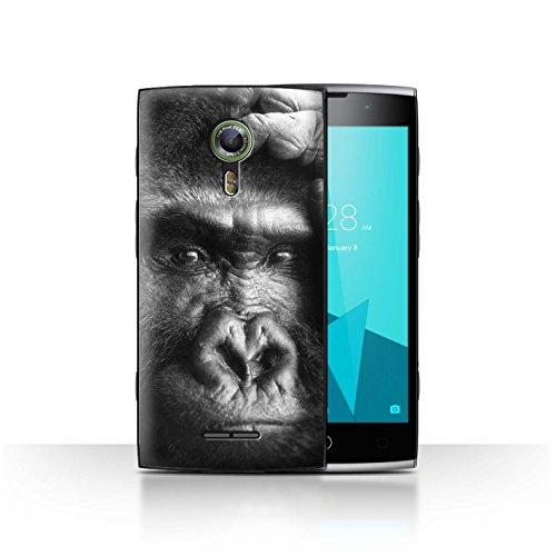 Hülle Für Alcatel Flash 2 Zoo-Tiere Gorilla/AFFE Design Transparent Ultra Dünn Klar Hart Schutz Handyhülle Hülle