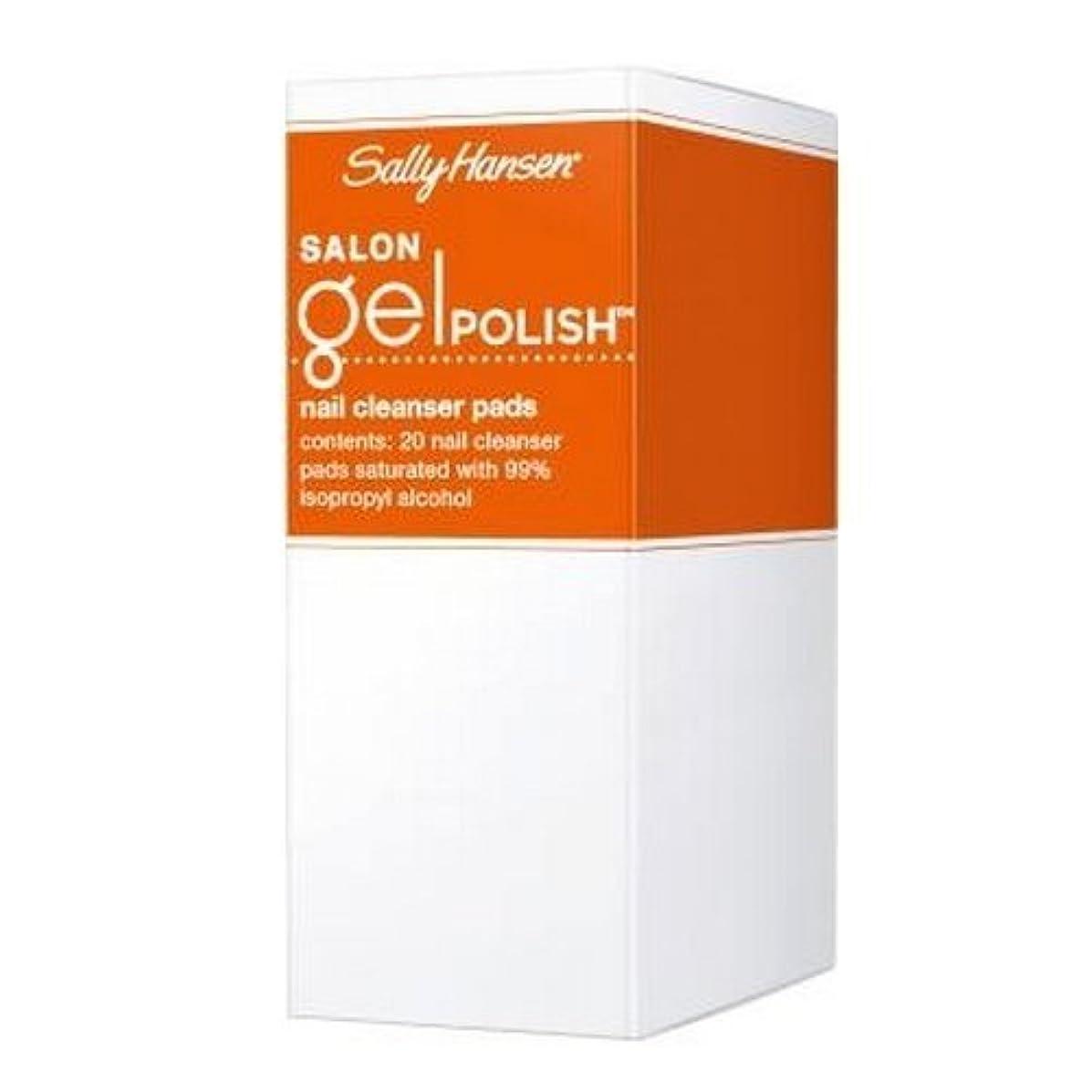 チャンスドループ誇張(3 Pack) SALLY HANSEN Salon Gel Polish Nail Cleanser Pads - Gel Polish Cleanser Pads (並行輸入品)
