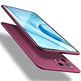 X-level Funda para Xiaomi Mi 11 Lite, Carcasa para Xiaomi Mi 11 Lite Suave TPU Gel Silicona Ultra Fina Anti-Arañazos y Protección a Bordes Funda Phone Case para Xiaomi Mi 11 Lite 5G - Vino Rojo