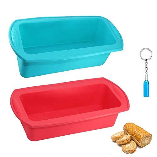 Cyleibe Silikon-Kastenform, BPA-frei, antihaftbeschichtet, Silikon-Brotform, Brotbackform für Kuchen, Brot, Hackbraten, Kuchen, Pfannkuchen, Pizza, 2 Stück