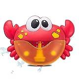 Antennababy Badespielzeug Badewanne Maschine Crabs & Frog Musik Kind-Bad-Spielzeug-Badewanne Soap Automatische Bubble Maker Baby-Bad-Spielzeug für Kinder,Rot