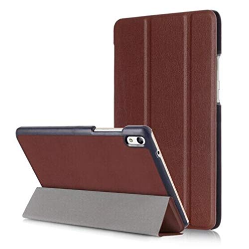 QiuKui Tab Cover For Lenovo Tab 4 10, Tablet Case Custer Fold Flip Stand Leather Cover For Lenovo Tab 4 10 TB-X304N TB-X304F 10 Plus TB-X704F TB-X304 TB-X704 X304F (Color : KST TB4 10Plus Brown)