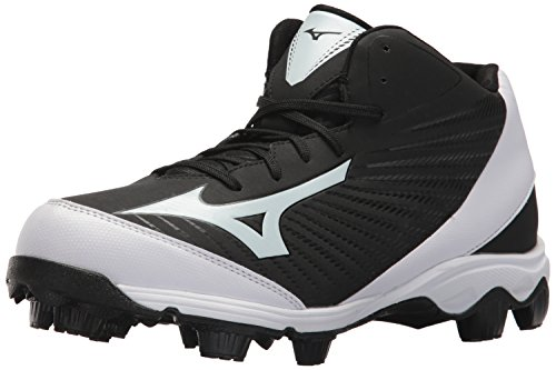 Mizuno Herren Molded Baseball Cleat Spike Advanced Franchise 9 geformte Baseballklampe – Mid, schwarz/weiß, 39.5 EU