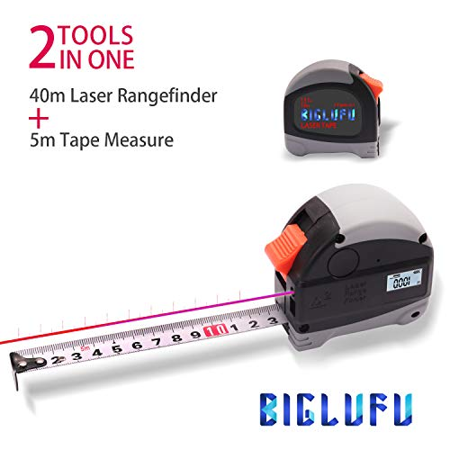 BIGLUFU Tape Measure Measuring Tapes Ruler Metric Measurement, 131Ft / 16Ft Laser Measuring Tape