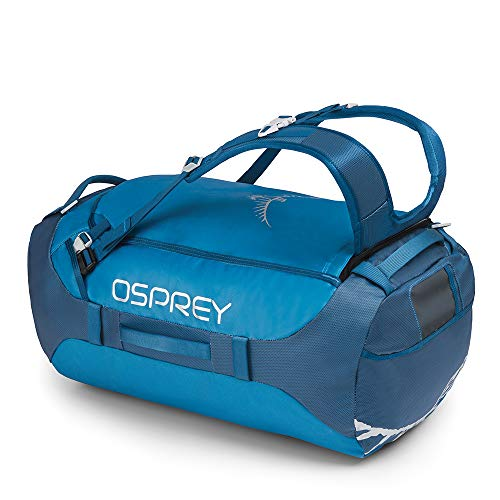 Osprey Transporter 65 Unisex Durable Duffel Travel Pack with Harness and Detachable Padded Shoulder Strap - Kingfisher Blue (O/S)