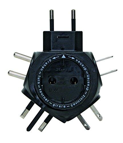 Kopp 172205012 SB Weltreise-Stecker-Adapter Travel-Star, schwarz
