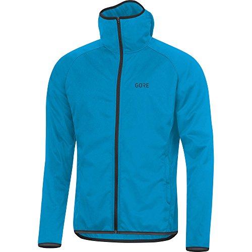 GORE Wear Winddichte Herren Lauf-Kapuzen-Jacke, R3 GORE WINDSTOPPER Hoodie, XL, Blau, 100350