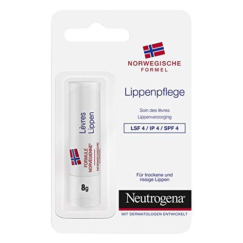 Neutrogena Norwegische Formel Lippenpflege mit LSF 4, pflegender Lippenpflegestift für rissige, spröde & trockene Lippen (1 x 4,8 g)