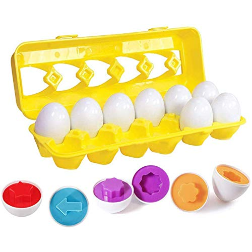 Neusky Magic Karula Ostereier-Farb und Formen Set, 12 Eier in 6 Farben Match Egg Set(Mit Form, 12)