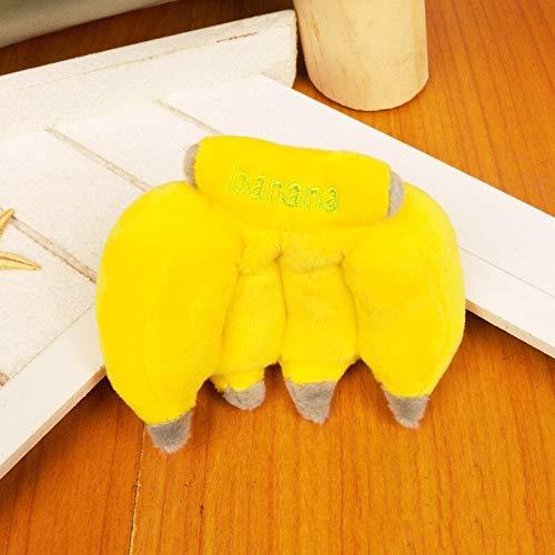 N / A 1pc niedlichen Cartoon Obst Plüsch Spielzeug Schlüsselbund Rucksack Schlüsselbund kreative Banane Bündel Smiley Sonne Blume Plüsch Schlüsselbund Mädchen 9CM