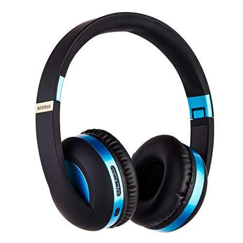 Wsaman Auriculares Inalámbricos Bluetooth,Auriculares para Trabajo y Deportes Viaje, con Mic Reducción de Ruido para Deportes, Oficina en Casa, Trabajo,Azul