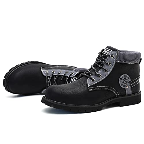 AONETIGER Botas de Seguridad para Hombre Piel Impermeable Zapatos de Seguridad S3 Ligero Zapatillas de Trabajo con...