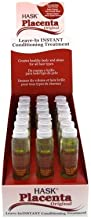 Hask Placenta Original Leave-In Instant Hair Repair, 5/8 Ounce(18ml), 18 Counts