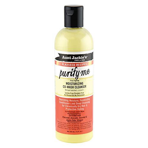 Aunt Jackies Curls and Coils - Limpiador de pelo co-wash hidratante, 355ml