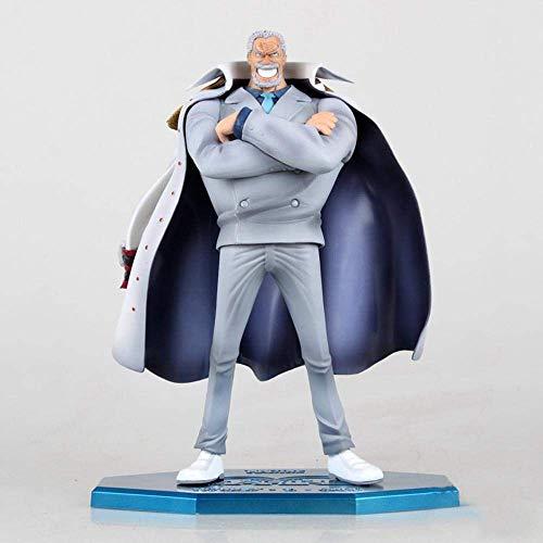 SXXYTCWL Anime-Charakter Modell Großvater Affen D GARP in einem Stück Luffy Weiß Action-Figur Dekoration Halloween Christmas Collection Geschenk 23CM A jianyou (Color : A)