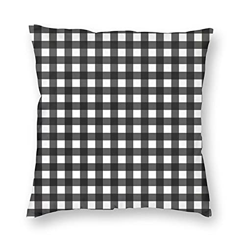 Nicegift Decorative Cushion Covers Table Cloth Seamless Pattern Black In Line Cushion Cover House Decorative Boys Girls Living Room Bedroom Sofa Chair Cushion Covers 45 X 45 cm