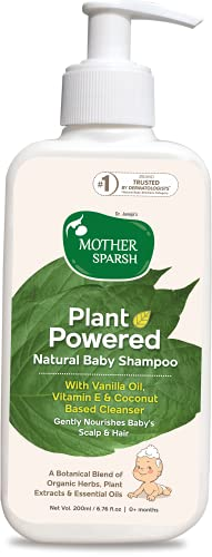Mother Sparsh Plant Powered Natural Baby Shampoo, Gently Nourishes Baby's Scalp & Hair – 200ML