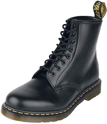 Dr. Martens 1460 - Botas Militares de Mujer, Negro (Black Smooth), 38 EU