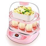 R&Y cocedor Huevos Vaporizador de Doble Capa, Apagado automático, Mini, una Capa, Acero Inoxidable, máquina de Tarta de...