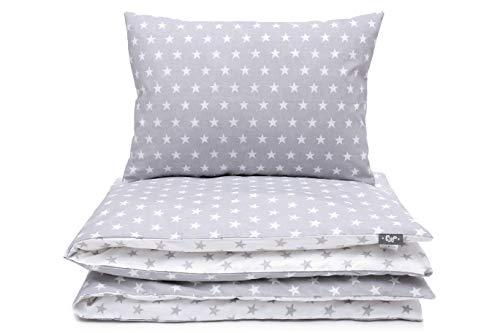Kinderbettwäsche Set Baby Bettwäsche Bettbezug 100 x 135, fur Baby und Kinder, 100% Baumwolle Hergestellt in Europa (Stars)