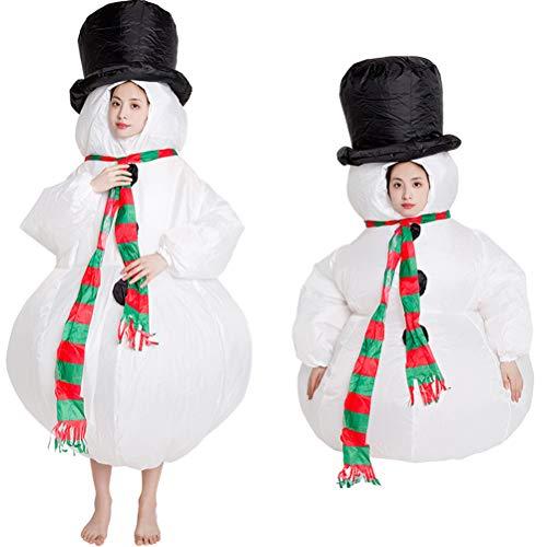 KiMiLIKE Weihnachten aufblasbar Kostüm aufblasbar Weihnachtsmann Klausel Anzug Kostüm lustig Puppe Requisiten Kleidung für Weihnachten Cosplay Party