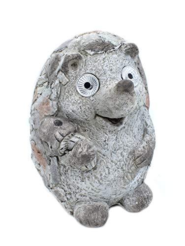 DARO DEKO Garten Figur Igel 23 x 25 x 35cm mit LED Augen