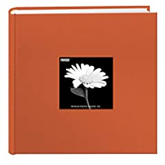 """Fabric cover features a frame to insert a favorite photo and a deluxe rounded bookbound spine 2-up album holds 200 photos up to 4""""x6"""" Patented Bi-Directional pockets hold horizontal or vertical photos Memo area next to each pocket Archival, photo saf..."""