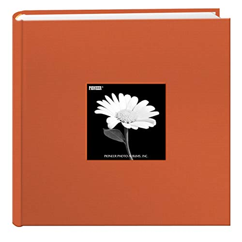 Fabric Frame Cover Photo Album 200 Pockets Hold 4x6 Photos, Tangerine Orange Nevada