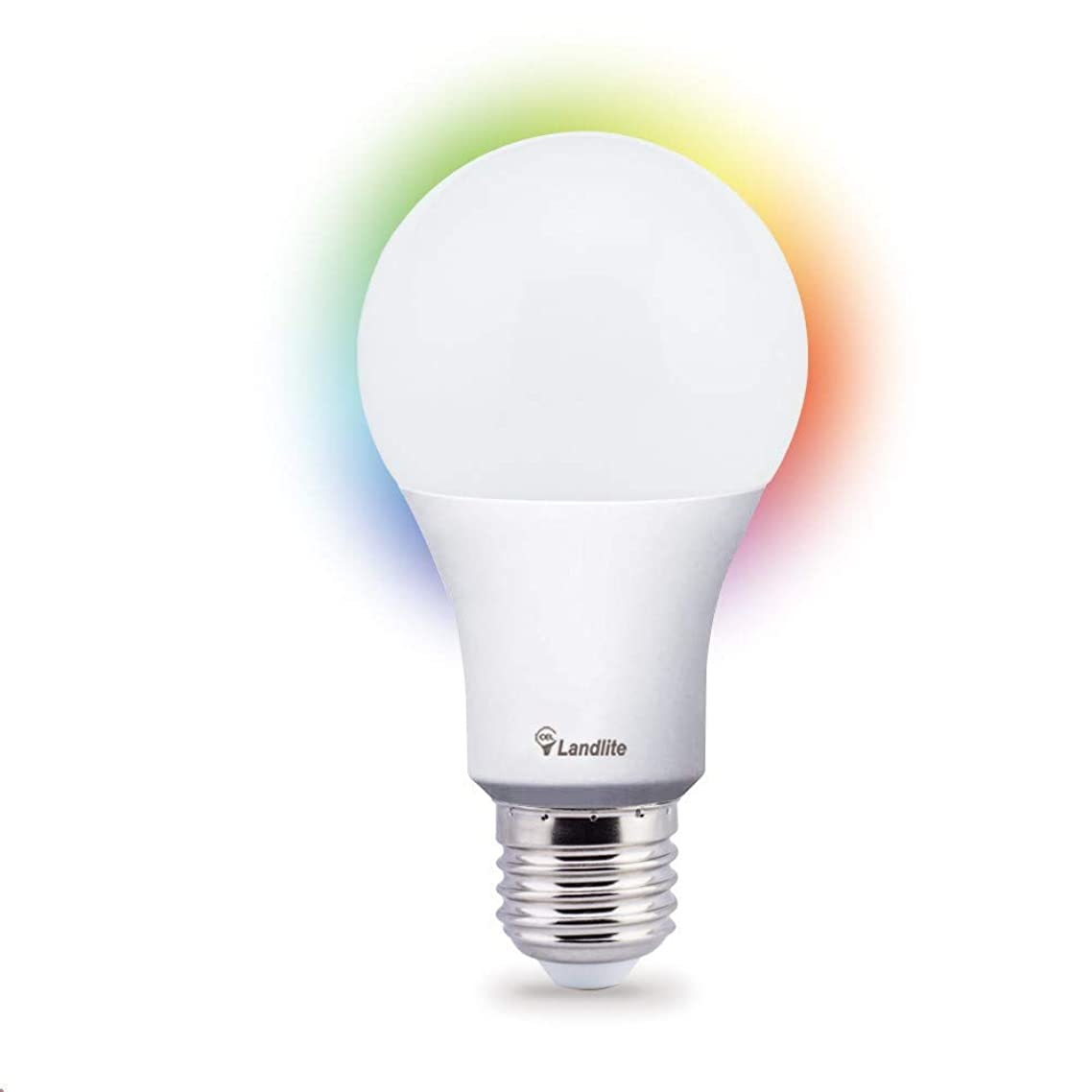 New Landlite LED Energy Saving 22,000hr Smart Wi-Fi Bulb Wireless Handfree Control ANYWHERE with Alexa and Google, IOS, Android No Hub required.