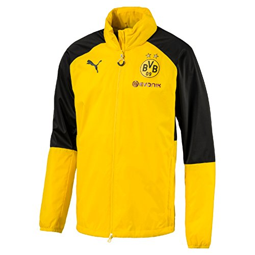 PUMA Herren BVB Rain Top Hood with Sponsor Logo Regenjacke, Cyber Yellow Black, S