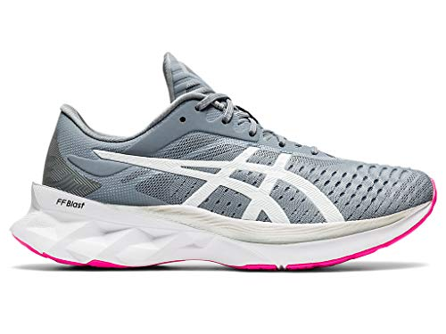 ASICS Women's NOVABLAST Running Shoes, 8.5M, Sheet Rock/White