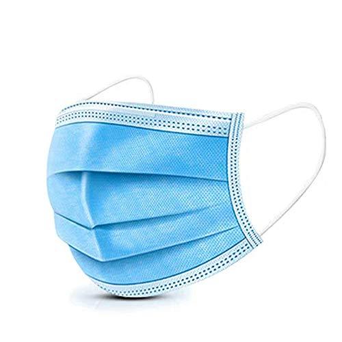 WWWLD Respirador desechable, antipolvo, seguro, transpirable, para adultos, bucle de filtro facial, paquete sellado azul 300/200/100/80/60/40 / 20pcs-20