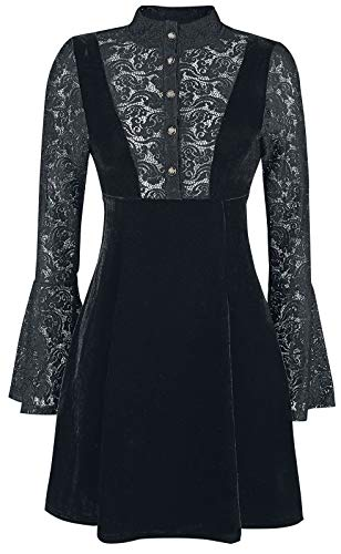 Dancing Days Velvet and Lace Kurzes Kleid schwarz L