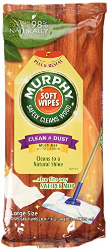 Murphy Oil Soap Soft Wipes, Wet, Disposable, Large Size, 18 Count (Pack of 3)