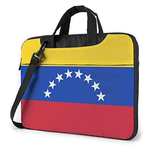 Venezuela Flag Quakeproof Laptop Bag Briefcase Shoulder Messenger Bag Satchel Tablet Bussiness Carrying Handbag
