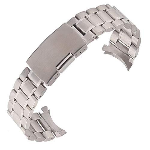 腕時計 交換ベルト ステンレス 3連 18mm 弓カン式 プッシュ式 【空縁隊】