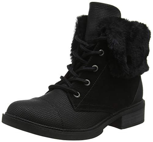 Blowfish Damen Virtrue Stiefeletten, Schwarz (Black Rocksteady/Fawn/Fur 010), 39 EU