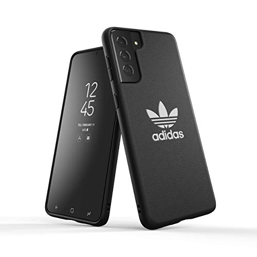 adidas Phone Case Compatible with Samsung Galaxy S21+, Originals Basic Moulded PU Case, Fully Protective Phone Cover, Black